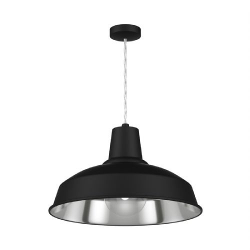 Reclamation Pendant Black/Chrome Inner REC0121 (Hand made, 7-10 day Delivery)